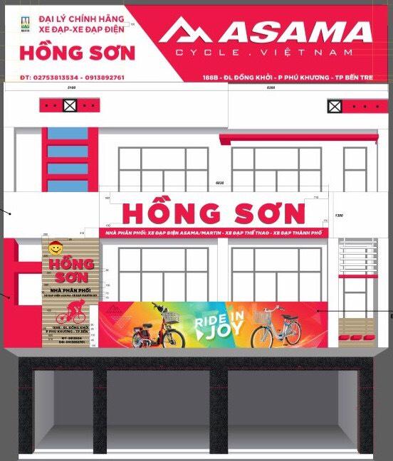 Thiết Kế bảng hiệu Hồng Sơn Bến Tre
